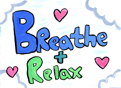 Breathe and relax . Breathing clipart breathing exercise