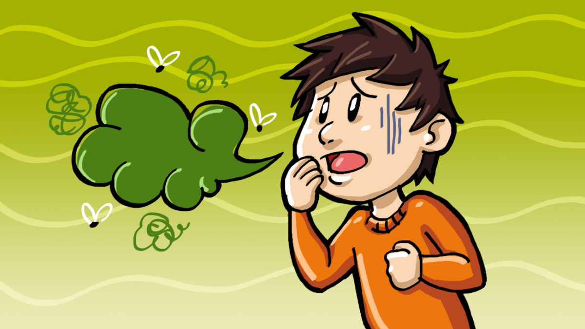 How to defeat bad. Breath clipart horrendous