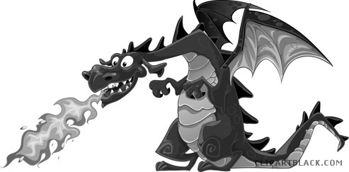 Breathing clipart animal breathing. Fire dragon clipartblack com