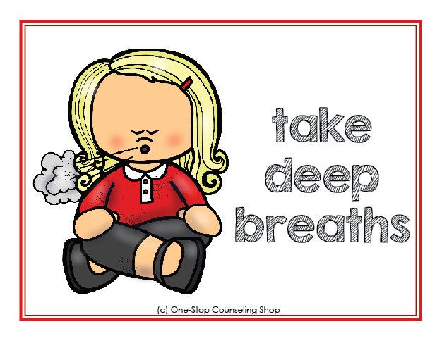 Breathing clipart calming. Calm down posters coloring