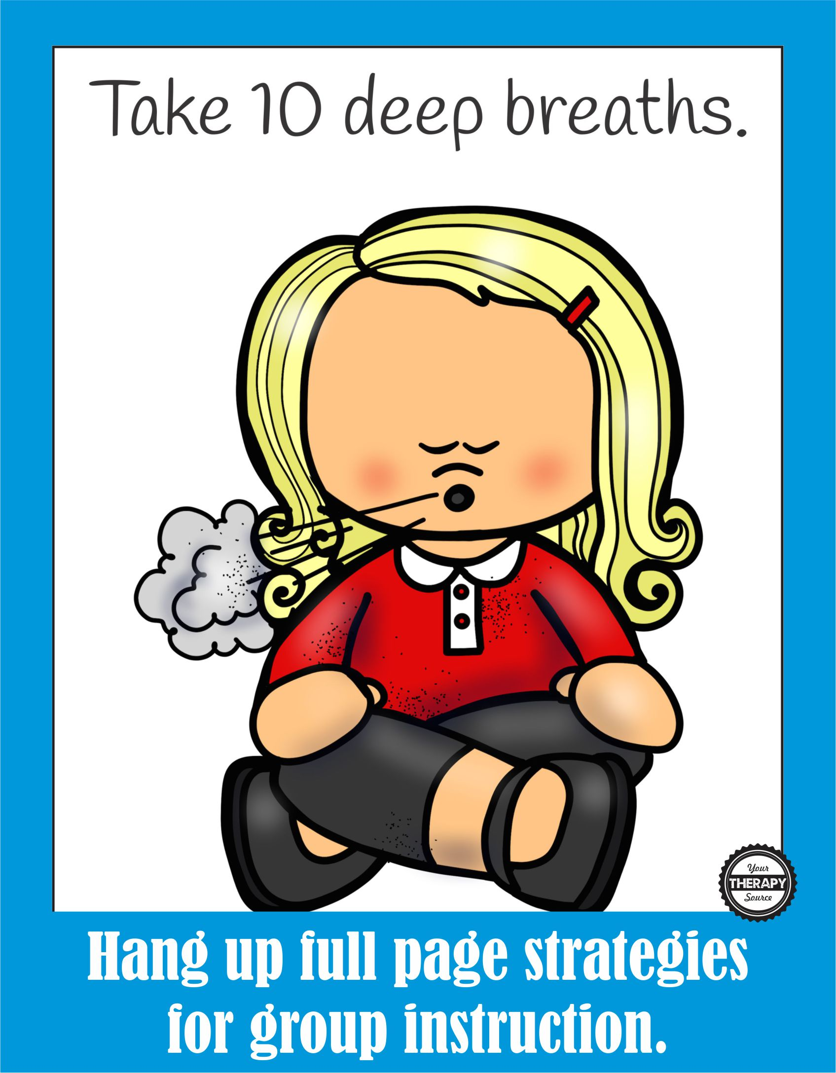 Strategies for the classroom. Breathing clipart calming
