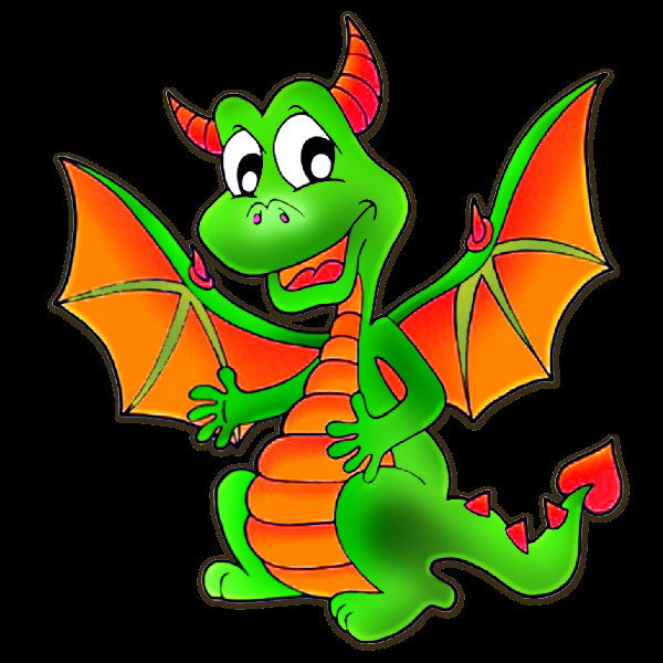 Inspirational cute dragons clip. Breathing clipart cartoon