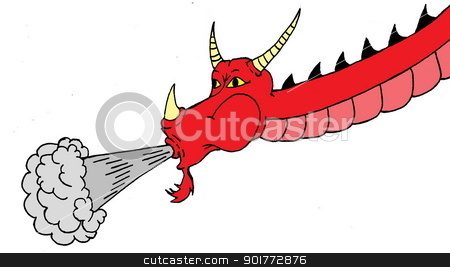 Dragon a puff of. Breathing clipart mouth