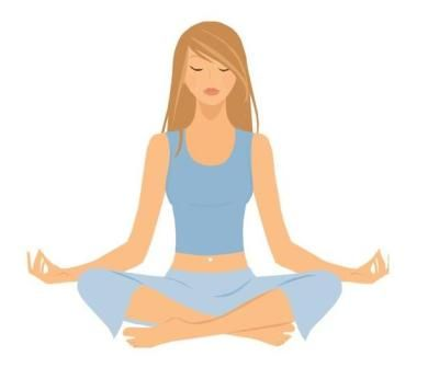 Free relaxing clip art. Calm clipart yoga