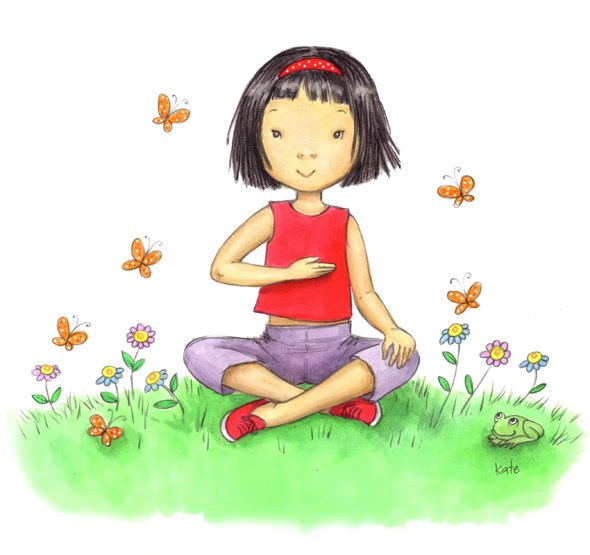 Yoga for kids benefits. Breath clipart child breathing