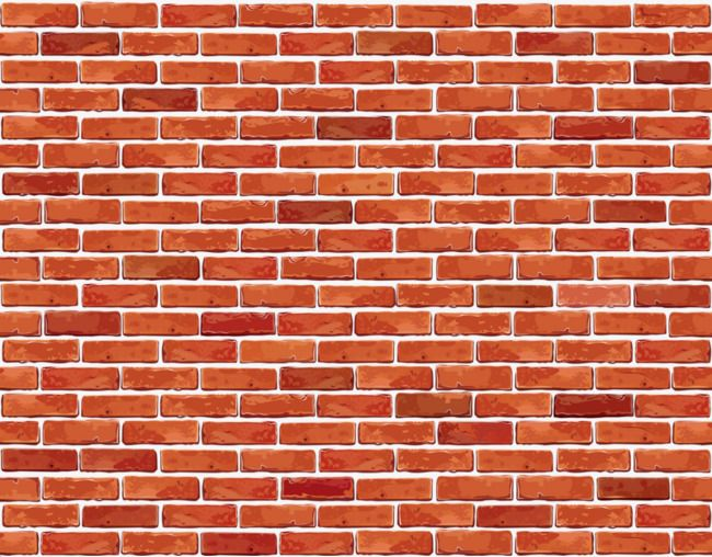 Red wall iron man. Brick clipart
