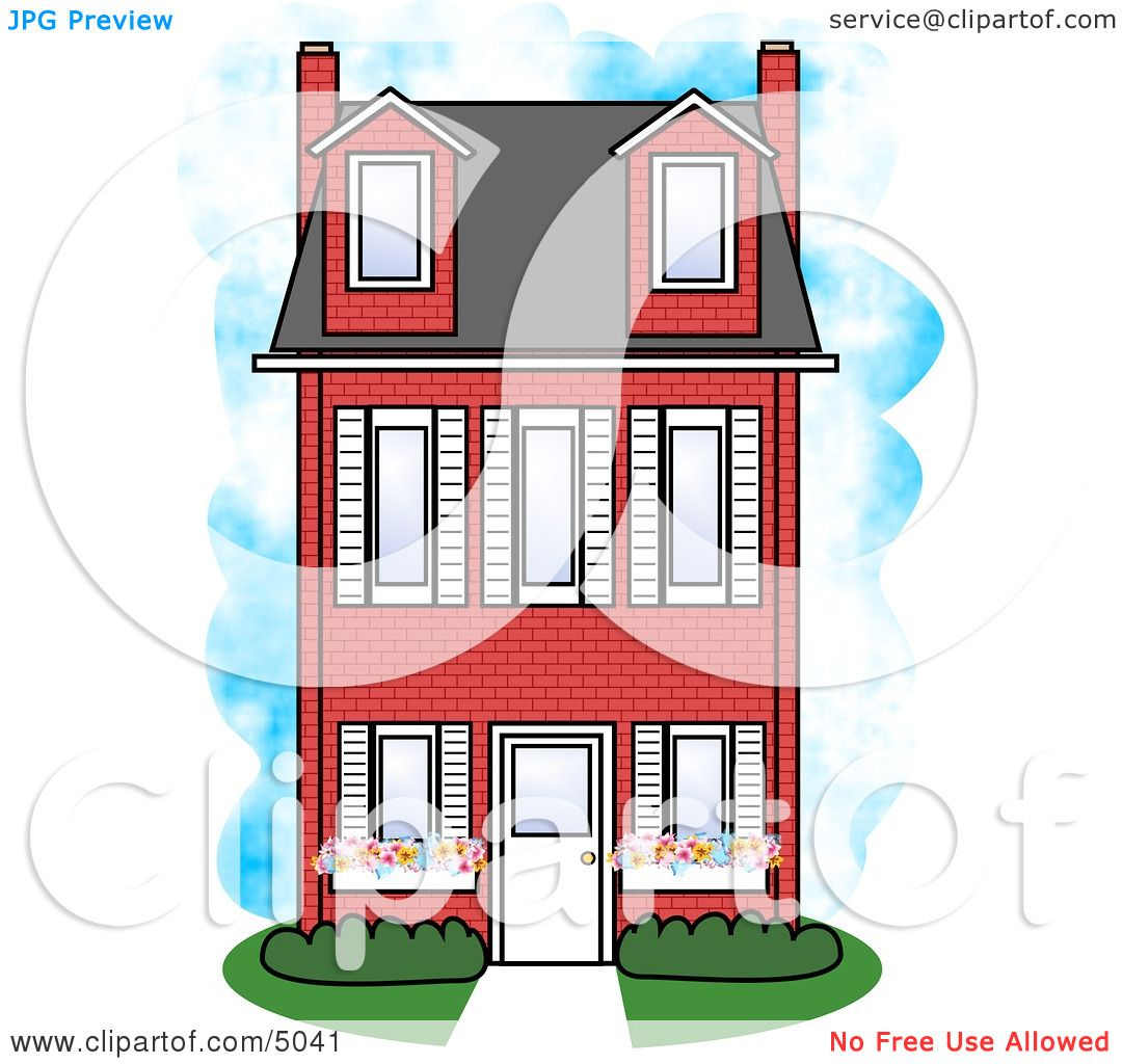 Brick clipart animated. Two story house clipground