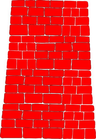 Brick clipart animated. Red wall clip art