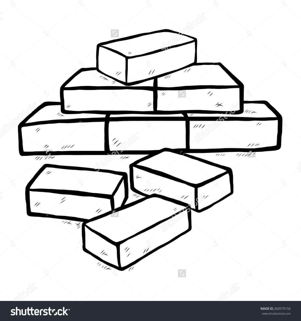 Bricks clipground clip art. Brick clipart black and white