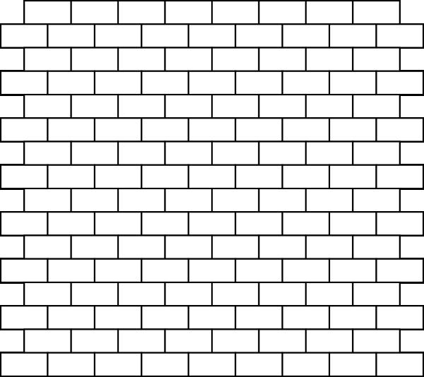 Brick clipart black and white. Bricks clip art at