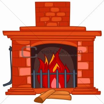 Cartoon fireplace panda free. Brick clipart brick chimney