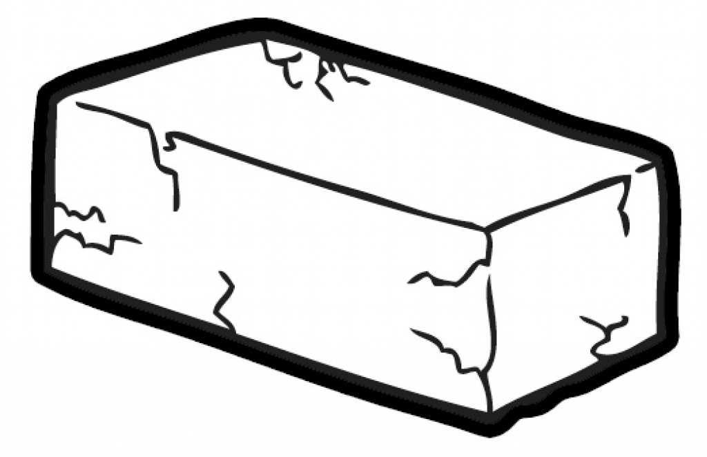 Bricks black and white. Brick clipart briks