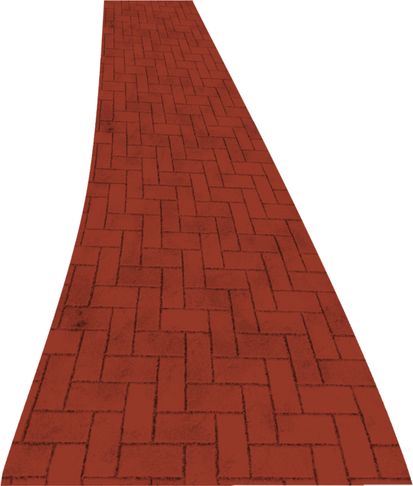 Pathway clipart path. Brick road by clipartcotttage