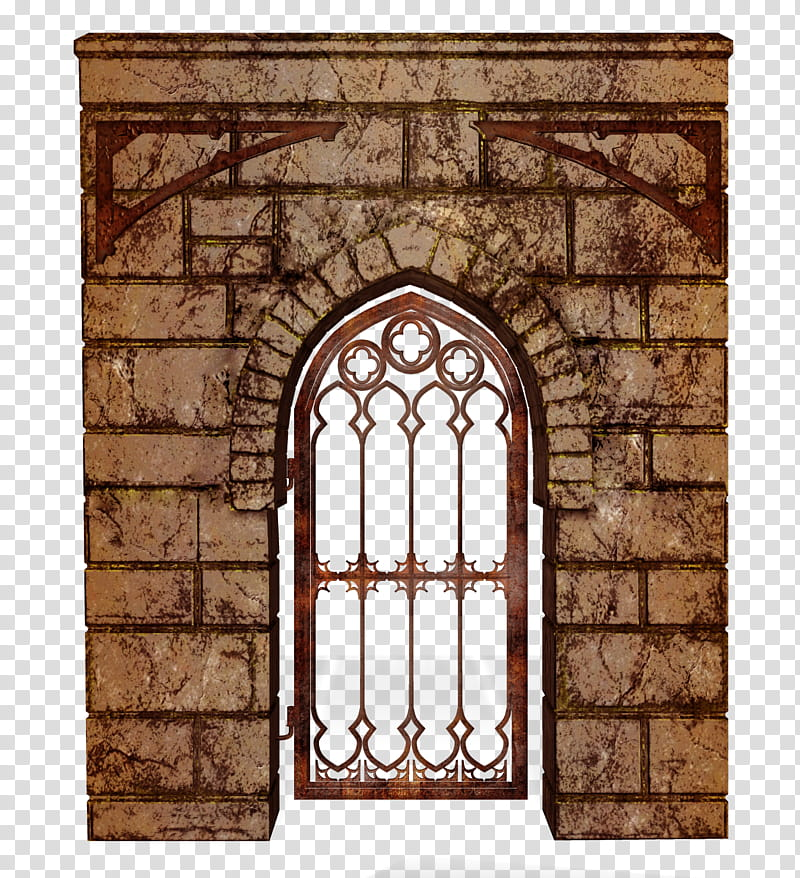 Twd wall with door. Palace clipart brick castle