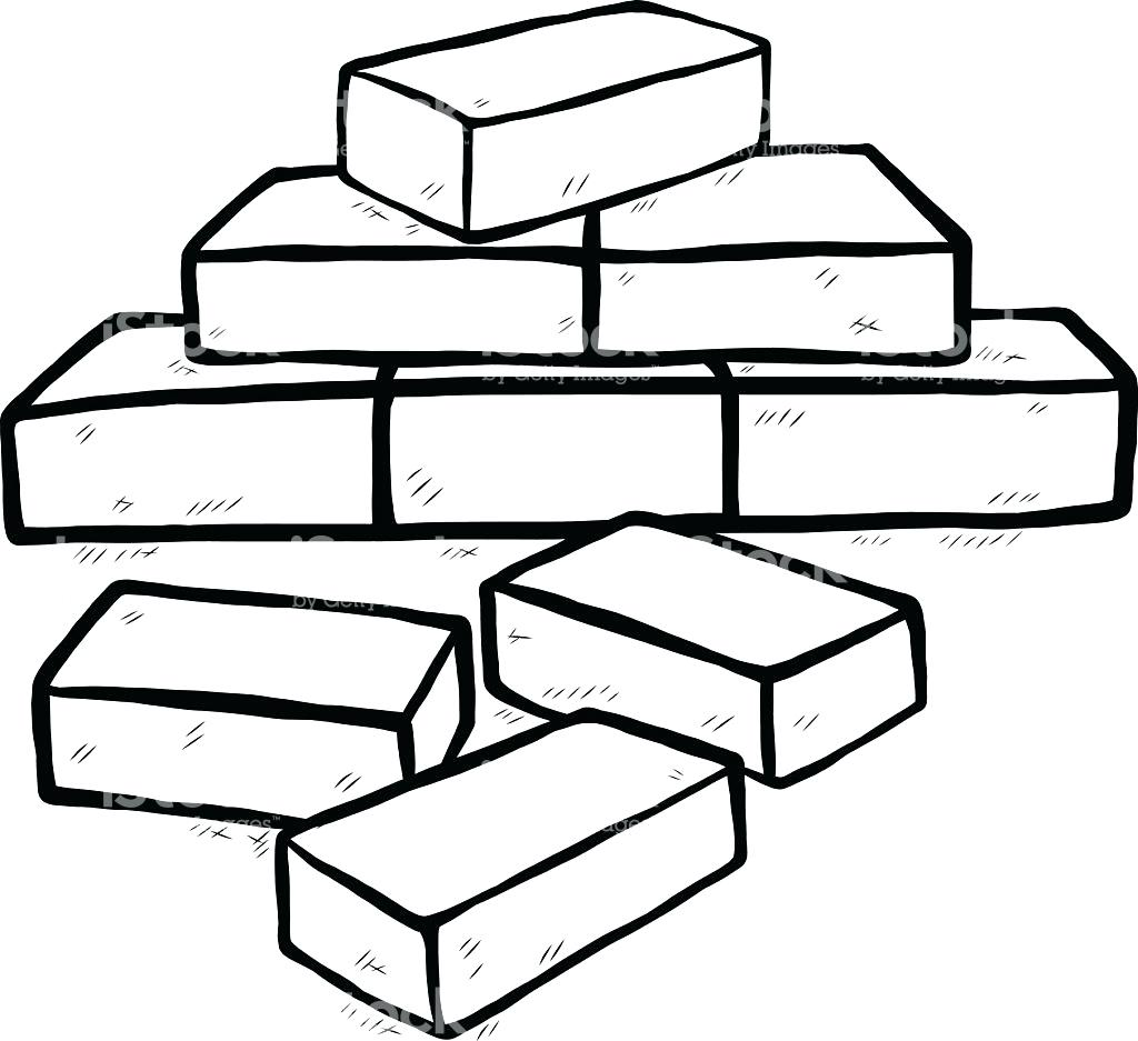 Brick clipart coloring. Drawing at getdrawings com