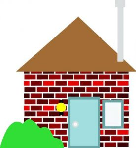 Brick clipart coloring. House page clip art