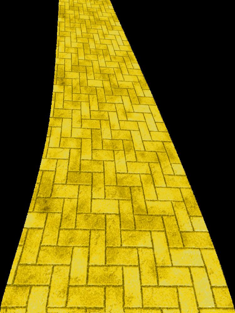 Yellow brick drawing at. Clipart road raod