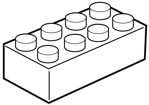 Brick clipart coloring.  collection of lego