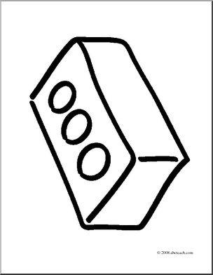 Clip art basic words. Brick clipart coloring