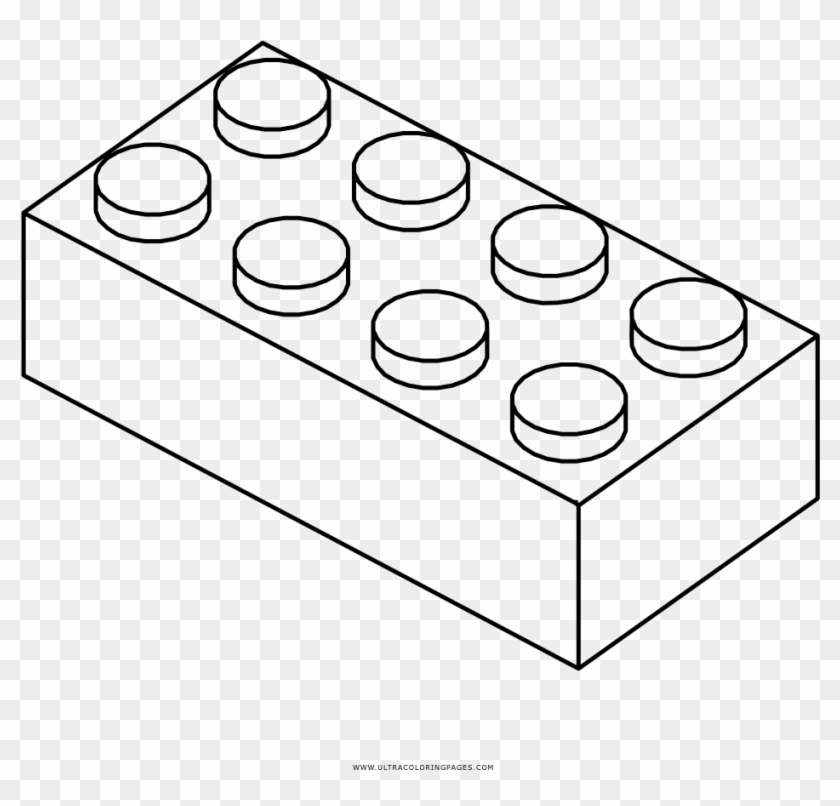 Brick clipart coloring page. Lego hd png download