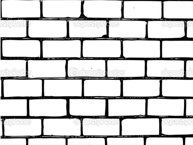 brick clipart coloring page