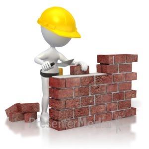 Brick clipart construction brick. Building wall
