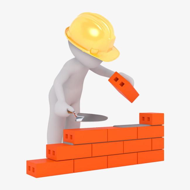Brick clipart construction brick. White workers villain helmet