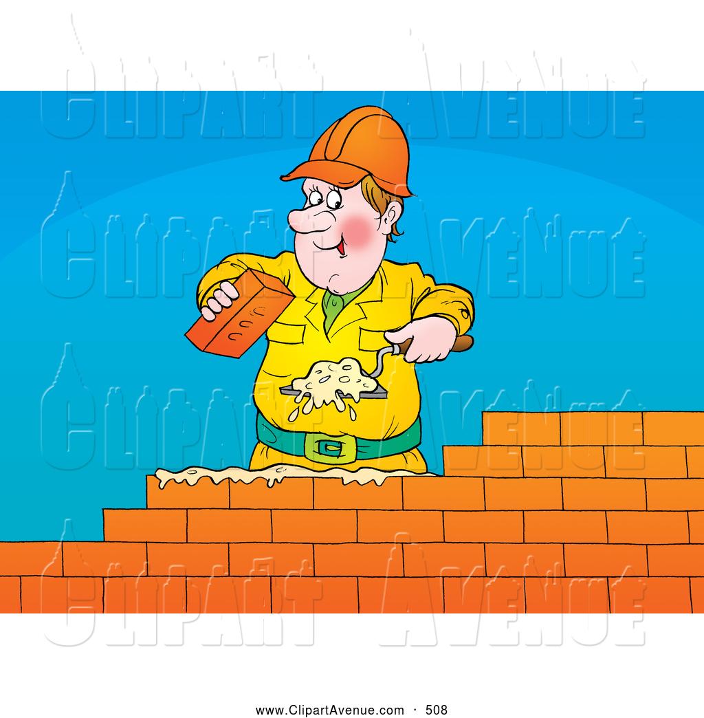 Avenue of a friendly. Brick clipart construction brick