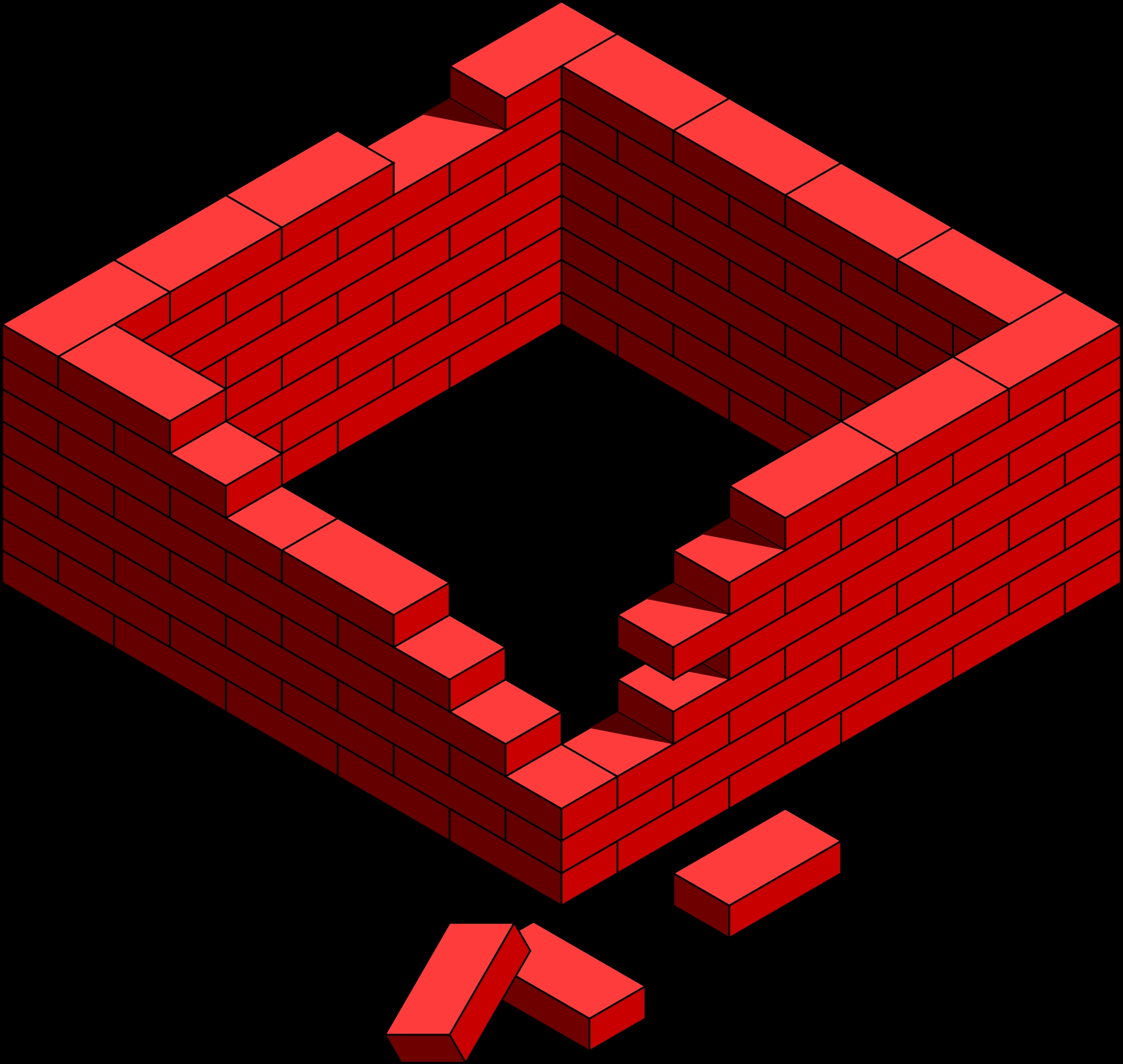 Wall cilpart strikingly design. Brick clipart large