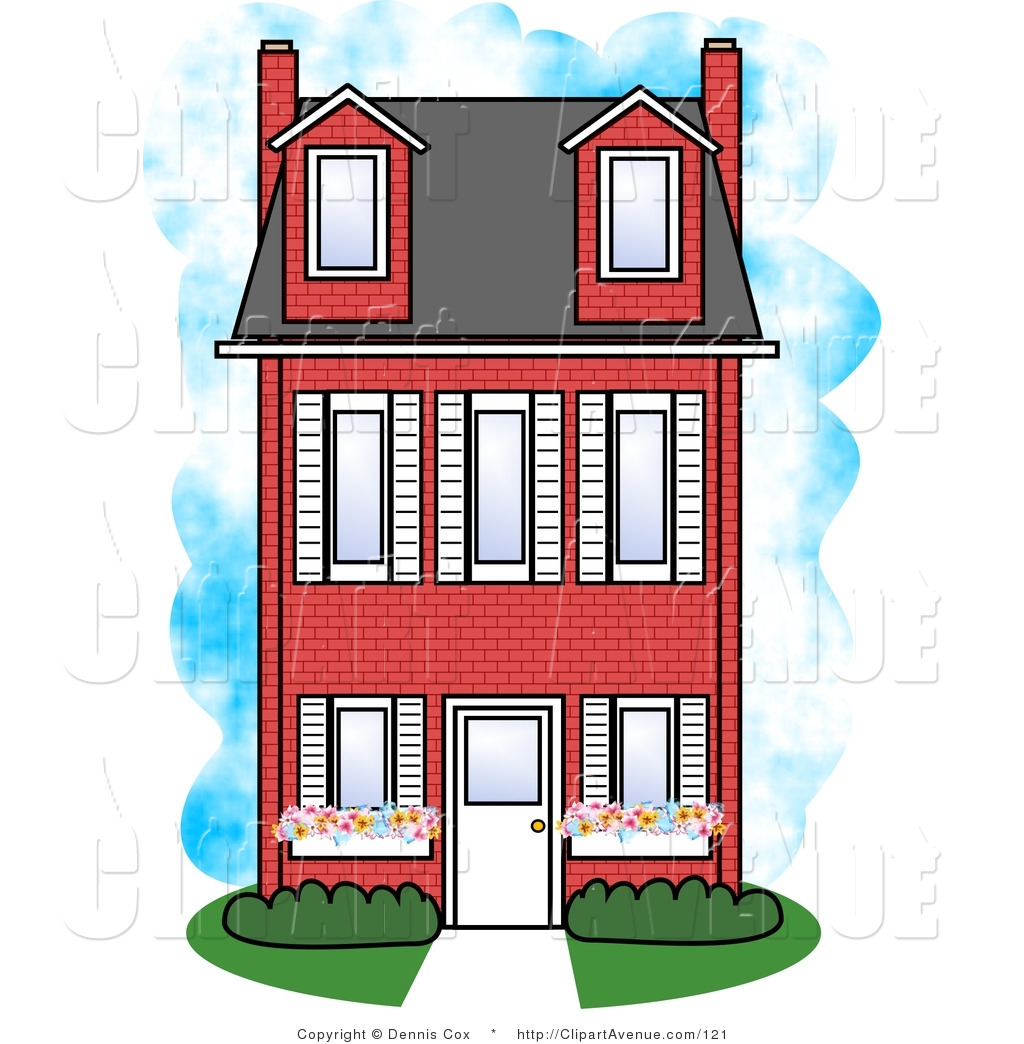 Avenue of a three. Brick clipart large