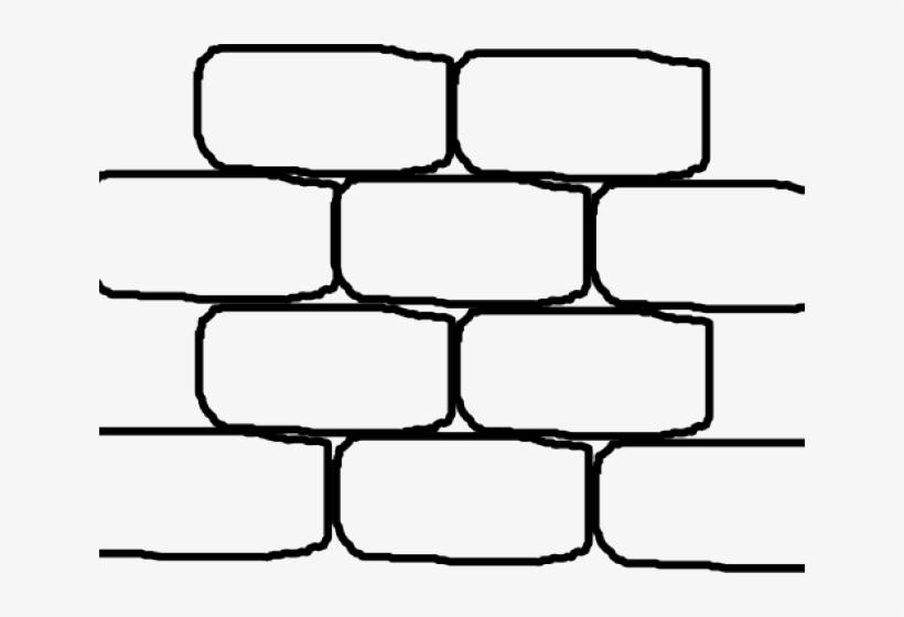 Bricks black and white. Brick clipart large