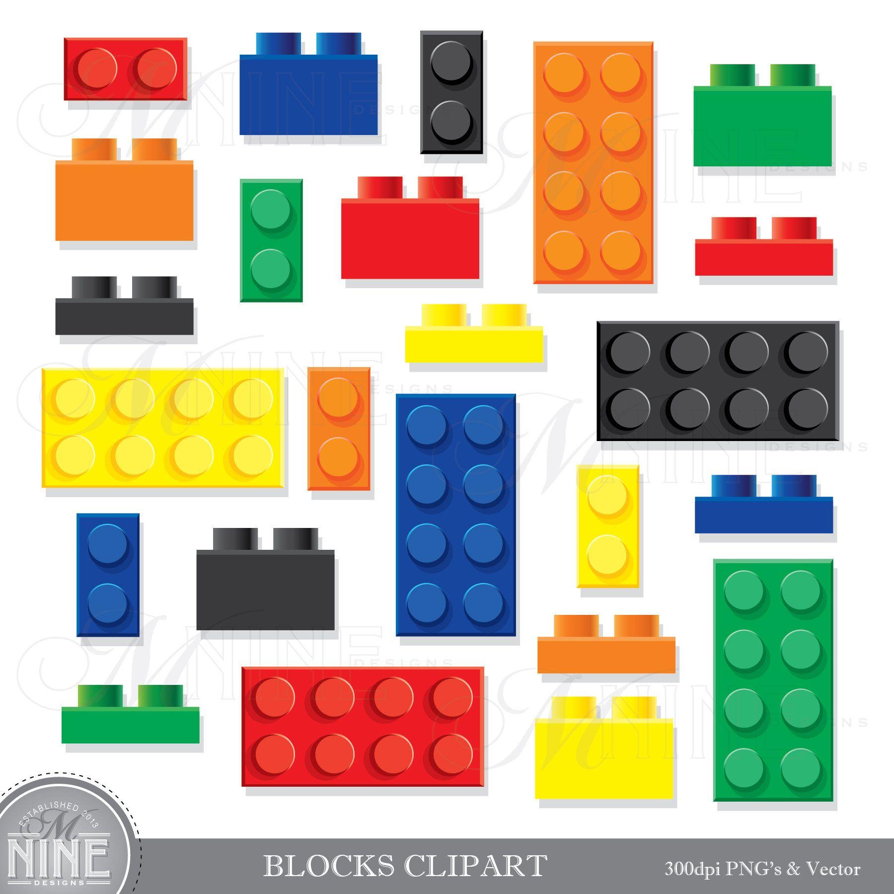 Legos clipart set. Building blocks clip art
