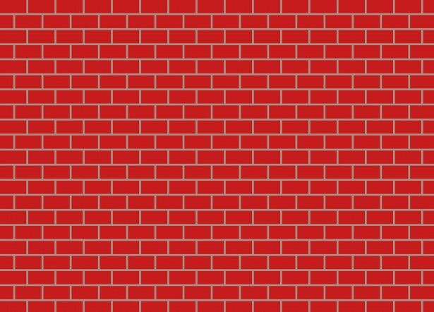 Red wall cards backgrounds. Brick clipart plain