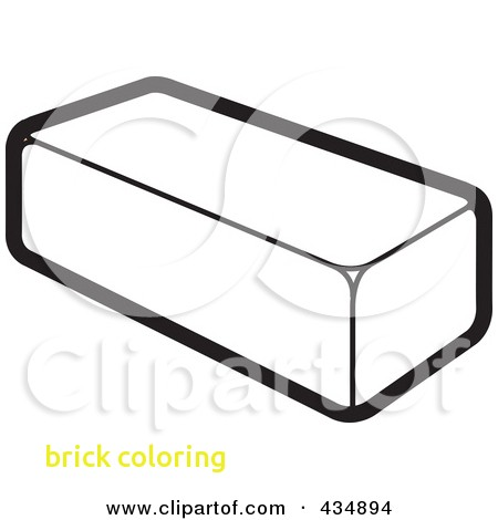 Brick clipart printable. Coloring with pencil and