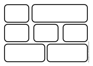 Blank word wall templates. Brick clipart printable