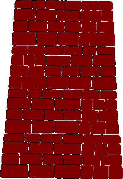 Brick clipart red brick. Wall clip art at