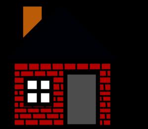Brick clipart red brick. House clip art at