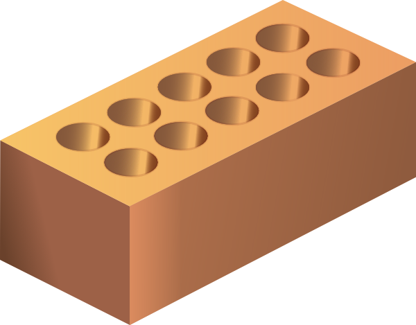 Clip art at clker. Brick clipart single
