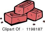 Pile of bricks panda. Brick clipart stack brick