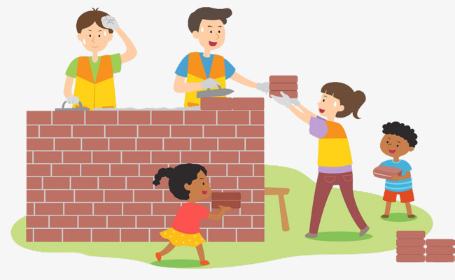 Brick clipart stacked. Cute illustration the family