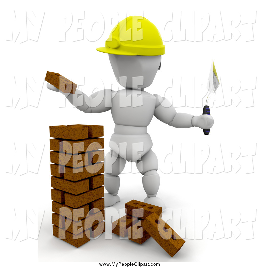 Brick clipart stacked. Clip art of a