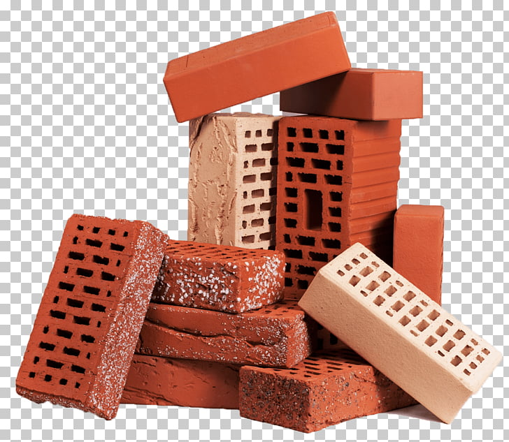 Stack of bricks red. Brick clipart stacked