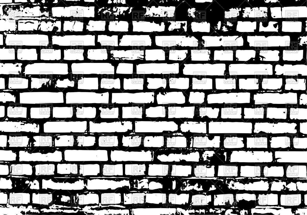 Brick clipart vector. Wall black background royalty