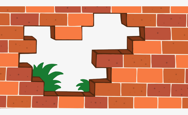 Brick clipart vector. Flat wind red wall