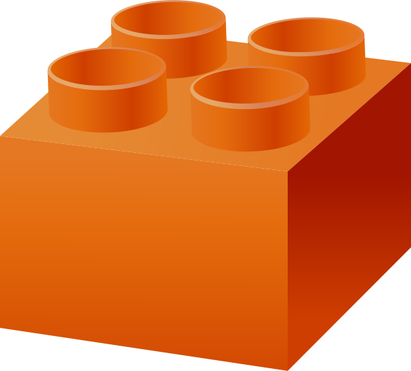 Brick clipart vector. Orange lego data for