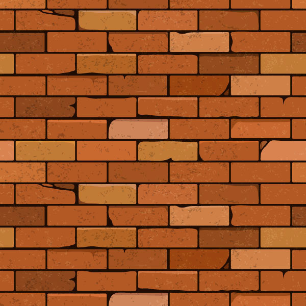 Drawn pencil and in. Brick clipart vector