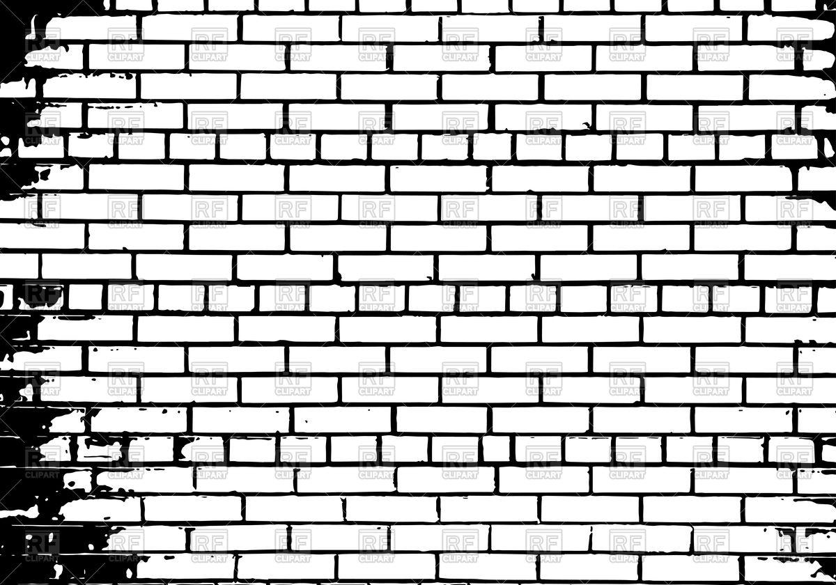 Wall inspirational grunge white. Brick clipart vector