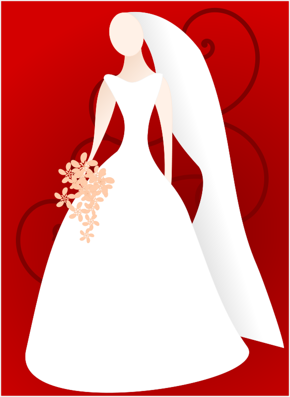 Bride and groom free. Bridal clipart animated