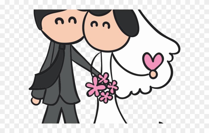Bride novios wedding couple. Bridal clipart animated