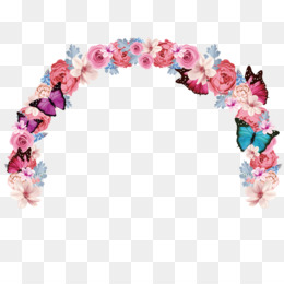 Flower png and psd. Bridal clipart arch